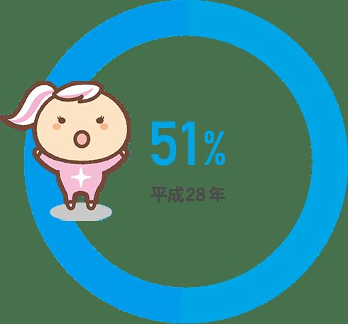 平成28年 51%